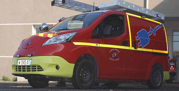 Les pompiers de Corse testent un VID 100% électrique