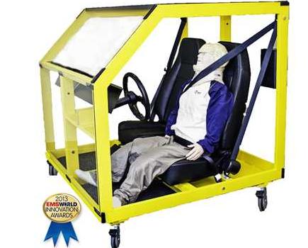 Système de simulation de véhicule pour désincarcération