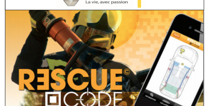 Le rescue code disponible sur le site renault.fr