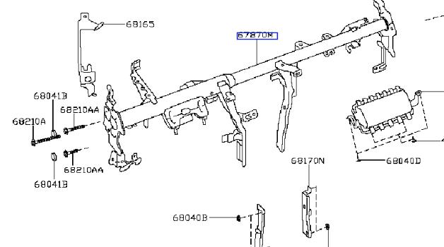 Les jambes de force du tableau de bord présentes chez Nissan