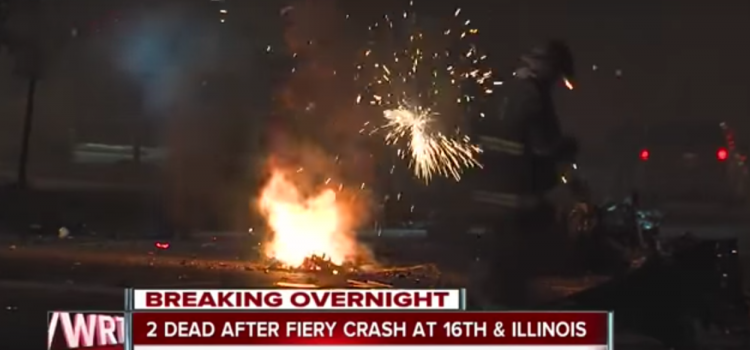 Feu avec explosion Tesla – Indianapolis