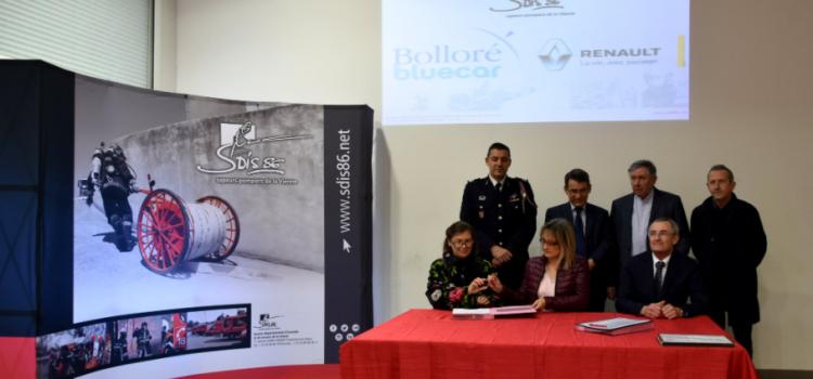 Signature de convention : Bolloré et Renault, solides partenaires du SDIS86